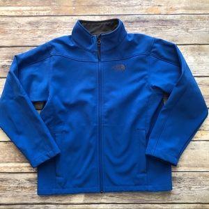 EUC NORTH FACE Boys Blue Zip Up Jacket - M 10/12